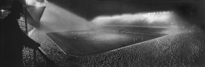 Highbury under lights
