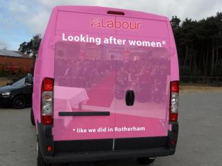 Labour-Rotherham-bus-skit