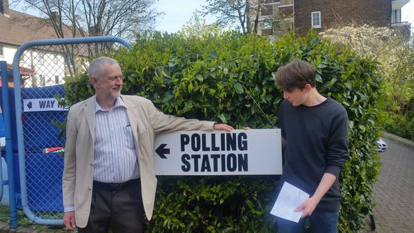 (Polling stations were alerted to a scruffy weirdo annoying voters)