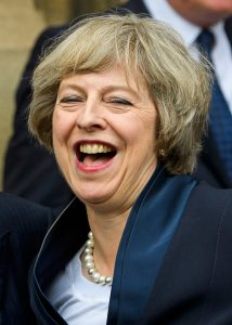¿ Licensed to London News Pictures. 11/07/2016. London, UK. British prime minister in waiting and new leader of the conservative party THERESA MAY smiles after delivering a statement in Westminster, London after Andrea Leadsom dropped out of the conservative party leadership race leaving May as the only candidate. Photo credit: Ben Cawthra/LNP